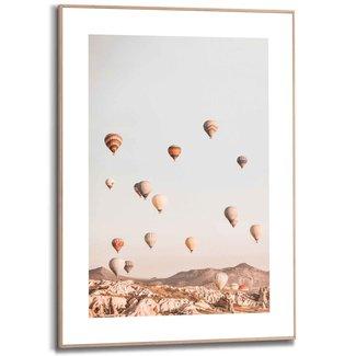 Gerahmtes Bild Heißluftballon