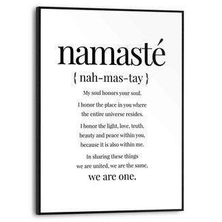 Gerahmtes Bild Namasté