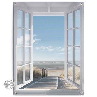Gartenposter Fenster zur Nordsee
