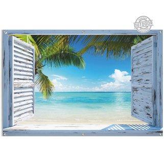 Gartenposter Strandfenster