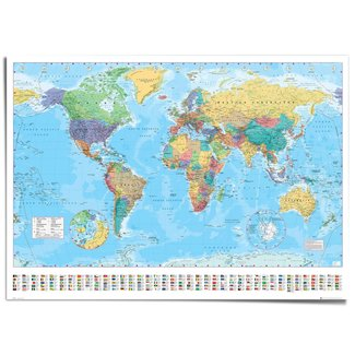 XXL Poster Weltkarte politisch