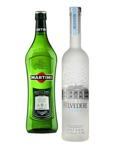 Belvedere Vodka Martini cocktail set