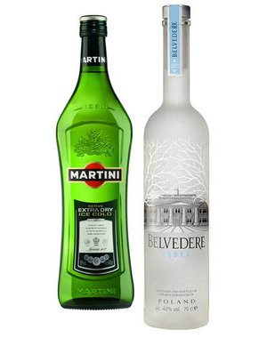Belvedere Vodka Martini cocktail set