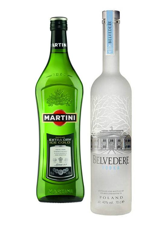 Belvedere 007 Belvedere Vodka Martini cocktail set