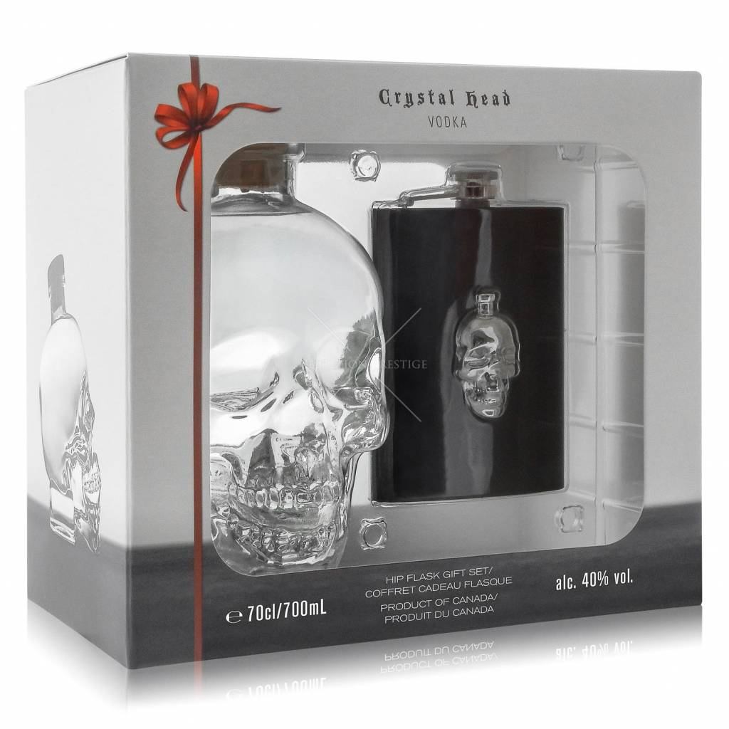 Crystal head Crystal Head Vodka Hipflask Giftpack 70CL