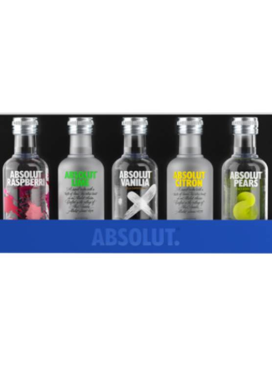 Absolut Absolut Mixed Flavours 5 x 5 CL