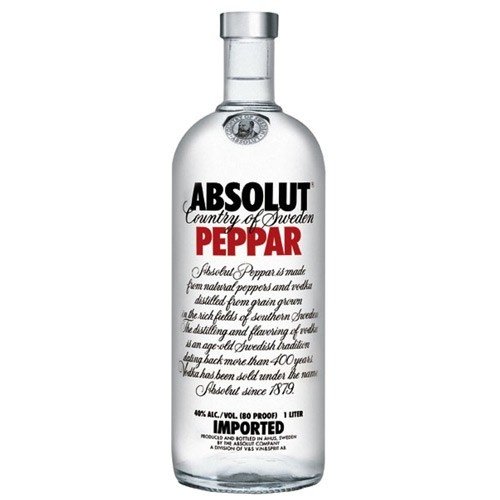 Absolut Absolut Peppar Vodka 100CL