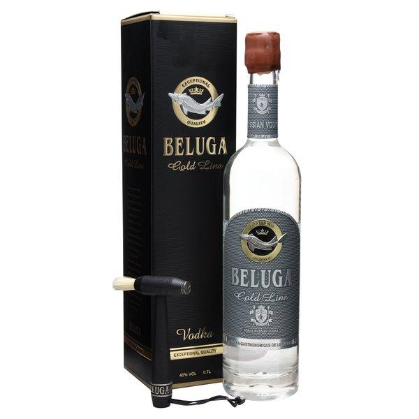 Beluga Gold Vodka Leather Case 100CL