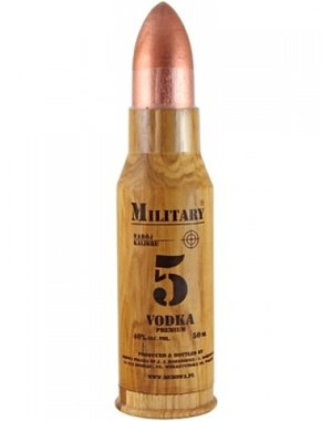 Military Bullet Vodka 5 CL