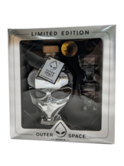 Outer space Alien Head Chrome + 2 glazen Giftpack 70CL