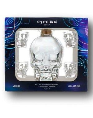 Crystal head Vodka + 4 glasses 70 cl in giftbox