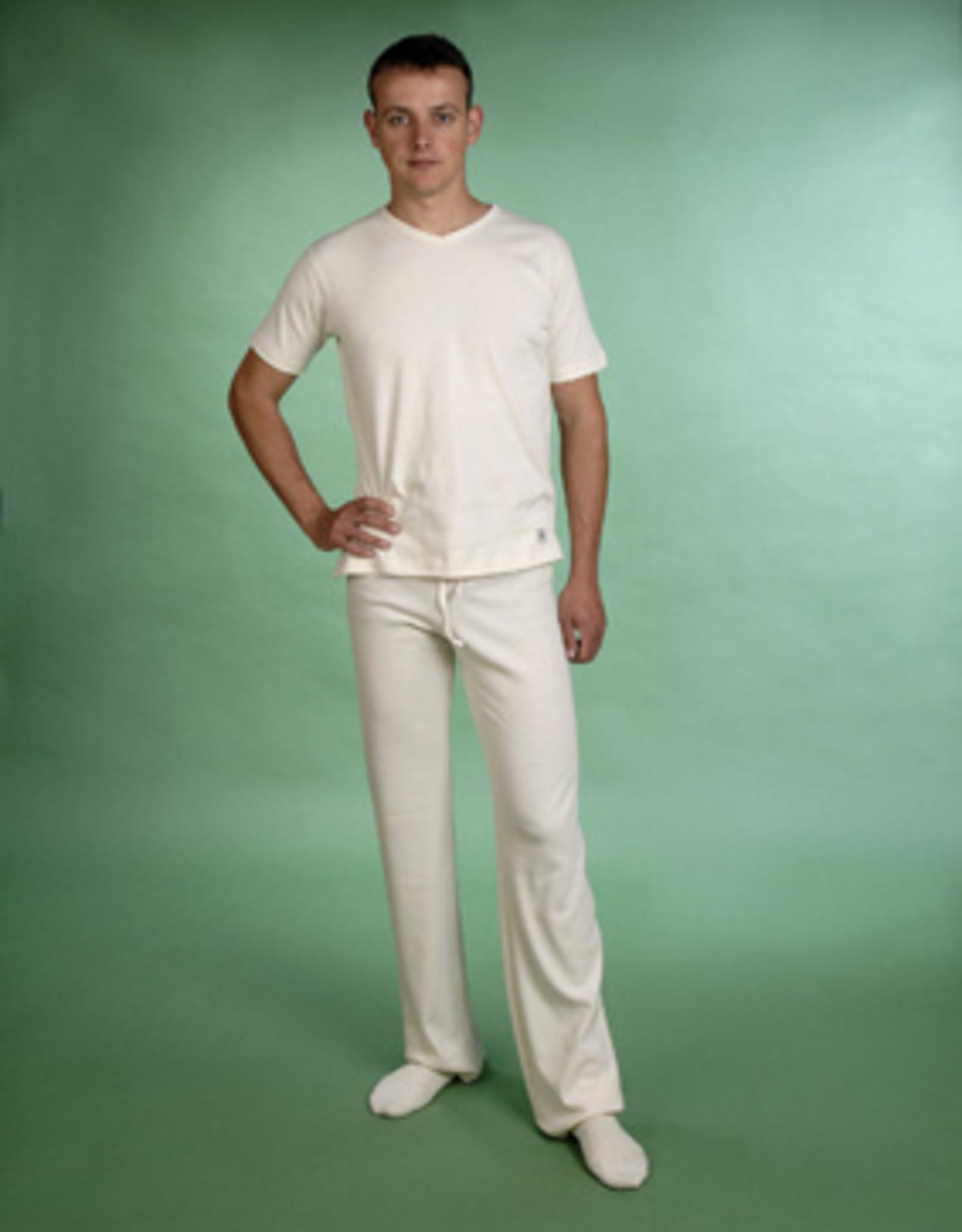 Pantalón de yoga unisex adulto de punto cuadrito.