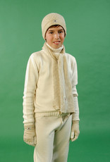 Jersey junior tricotosa con cuello cisne. Tallas 8, 10, 12 años.