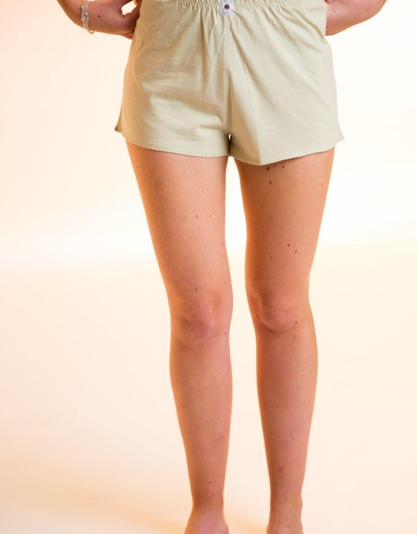 Pantalón de pijama corto de punto.