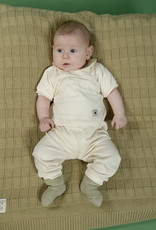 Blusa bebé canesú manga corta. Tallas 1, 3, 6 meses.