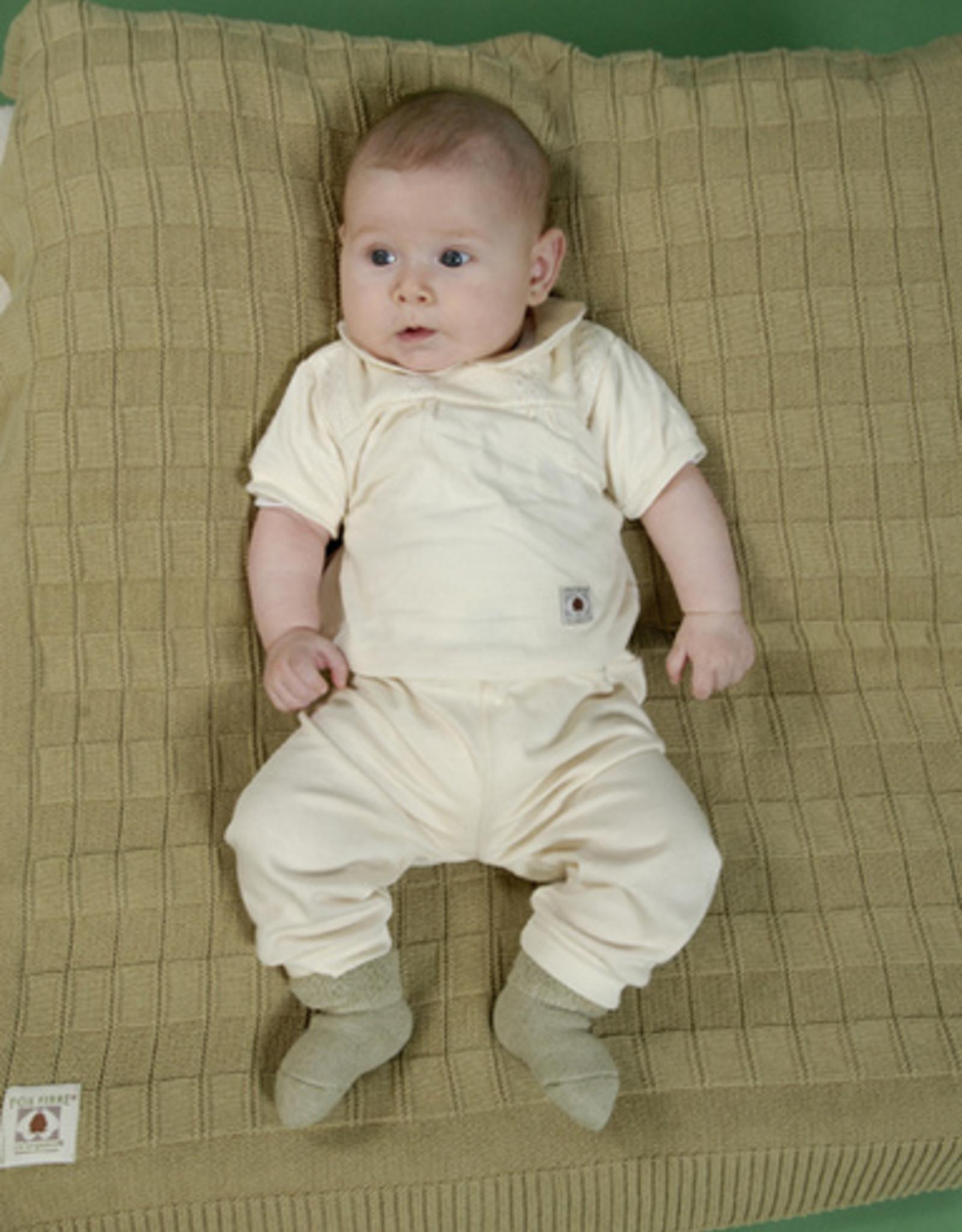 Blusa bebé canesú manga corta. Tallas 12, 18, 24 meses.