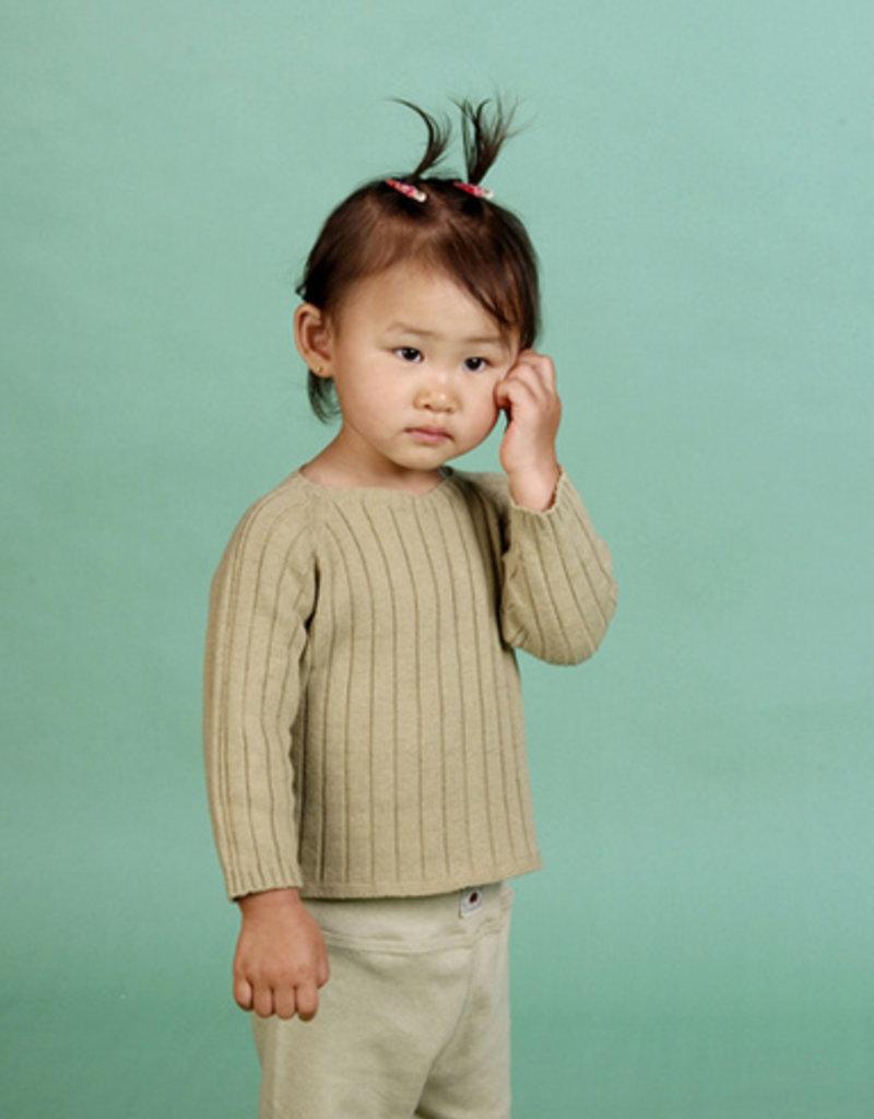 Sueter bebé manga larga con botones por detrás. Tallas 1, 3, 6 meses.