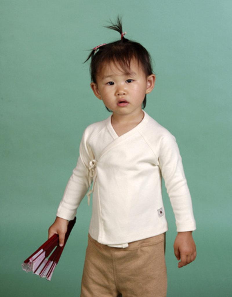 Camiseta bebé cruzada manga larga. Tallas 1, 3, 6 meses.