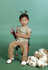 Camiseta bebé cruzada manga corta. Tallas 1, 3, 6 meses.