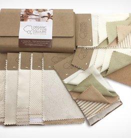 Muestras de tejidos de algodón orgánico OCCGuarantee®
