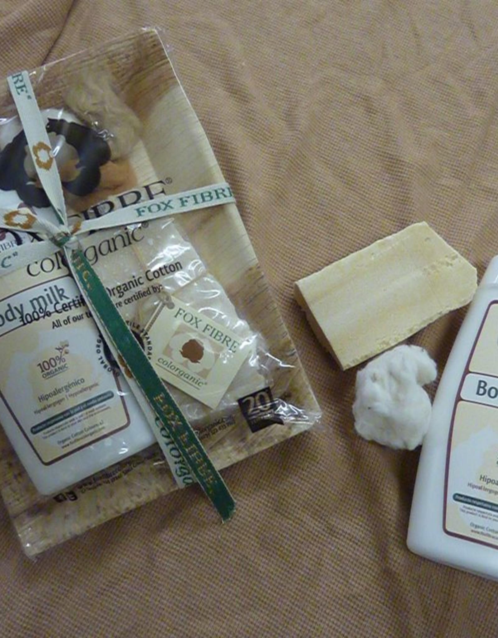 Pack con body milk y jabón 100gr.