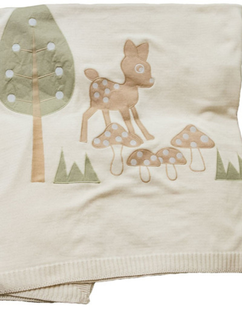 Baby blanket with embroidery 115x150cm.