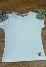 Camiseta niña con lazos. Tallas 12, 18, 24, 36, 48 meses.