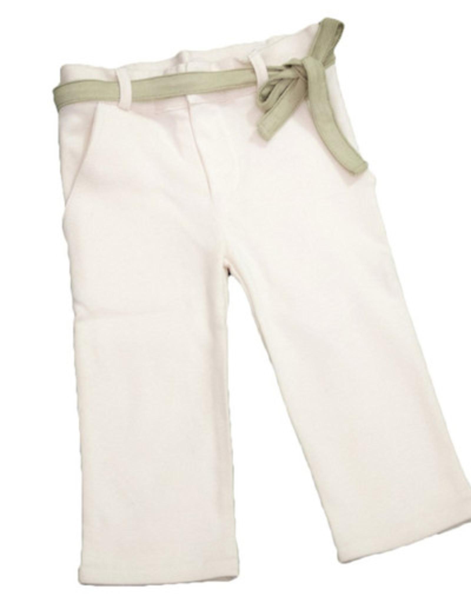 Pantalón junior con cinturón. Tallas 12, 24, 36, 48 meses.