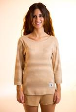 Long sleeve stripes shirt for women