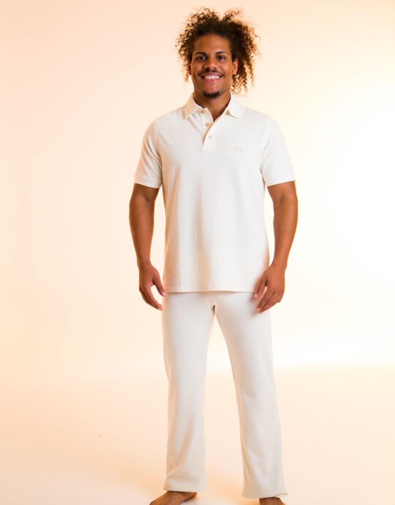 Short sleeve polo shirt make with pique fabric.