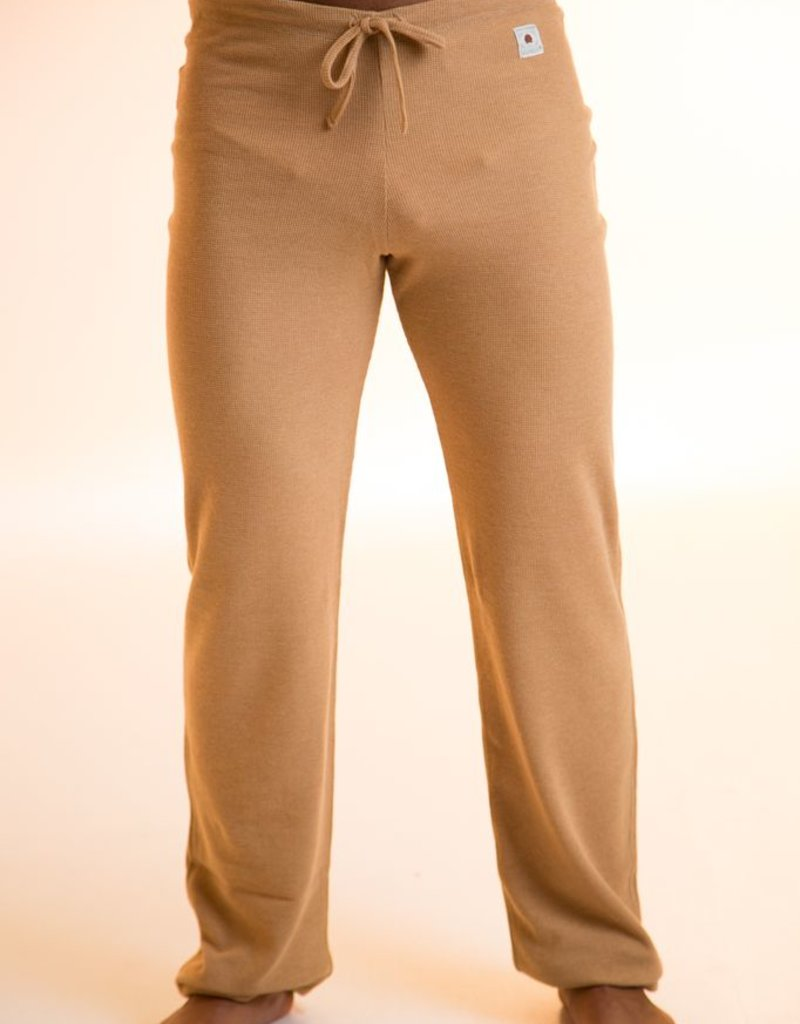 Unisex straight pants made with square weave fabric