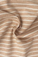 Single jersey stripes brown/ecru OCCGuarantee 160grs.