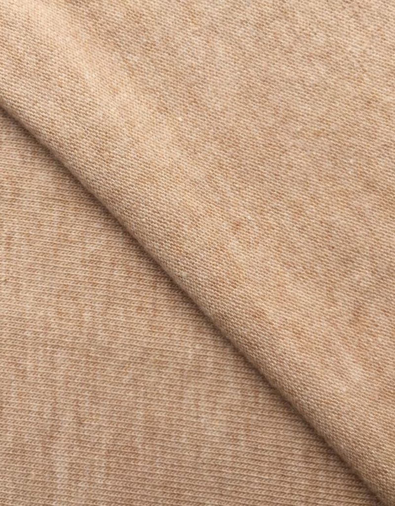 Single jersey brown 4% elastan OCCGuarantee 175grs.