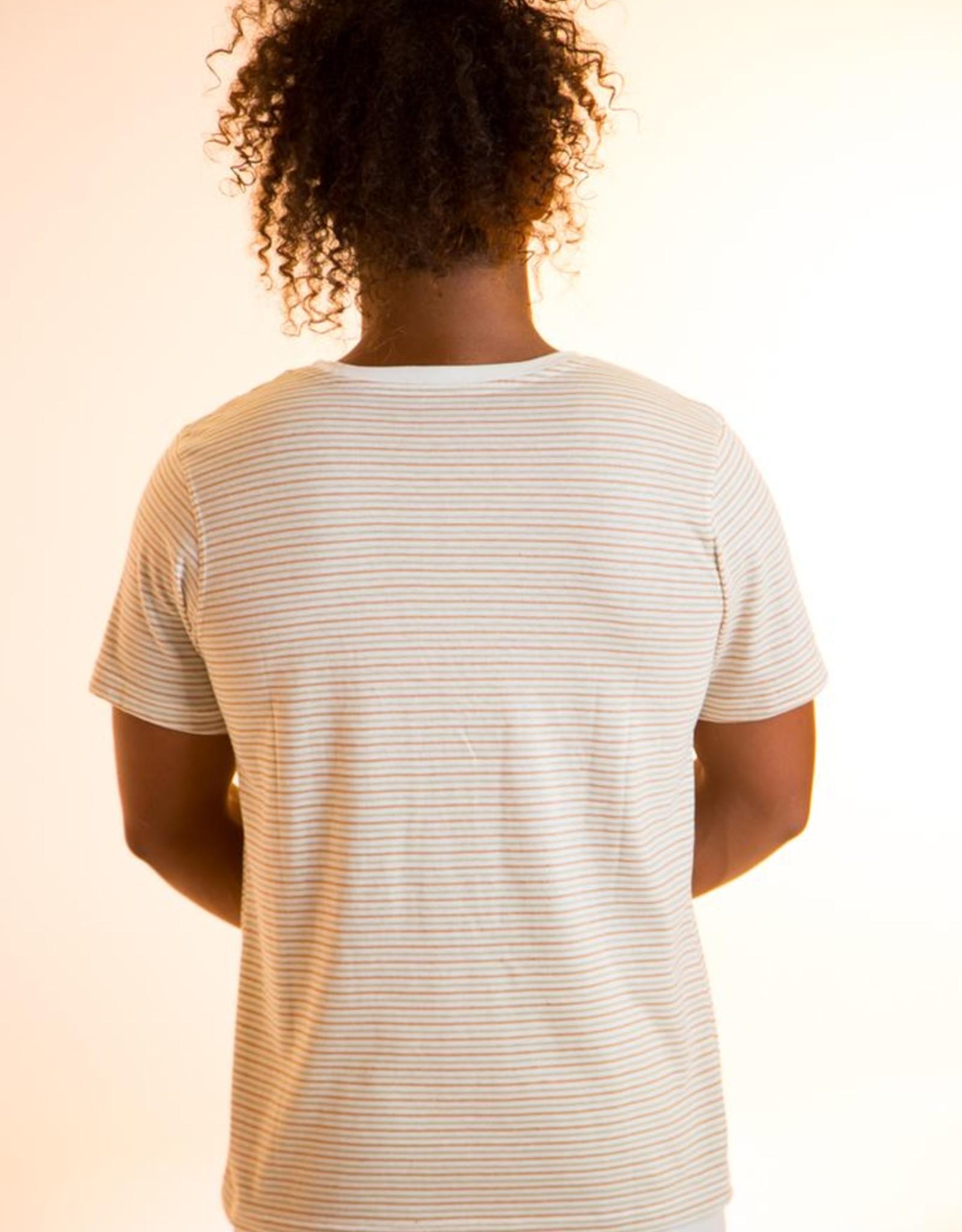 Camiseta hombre listada de manga corta.