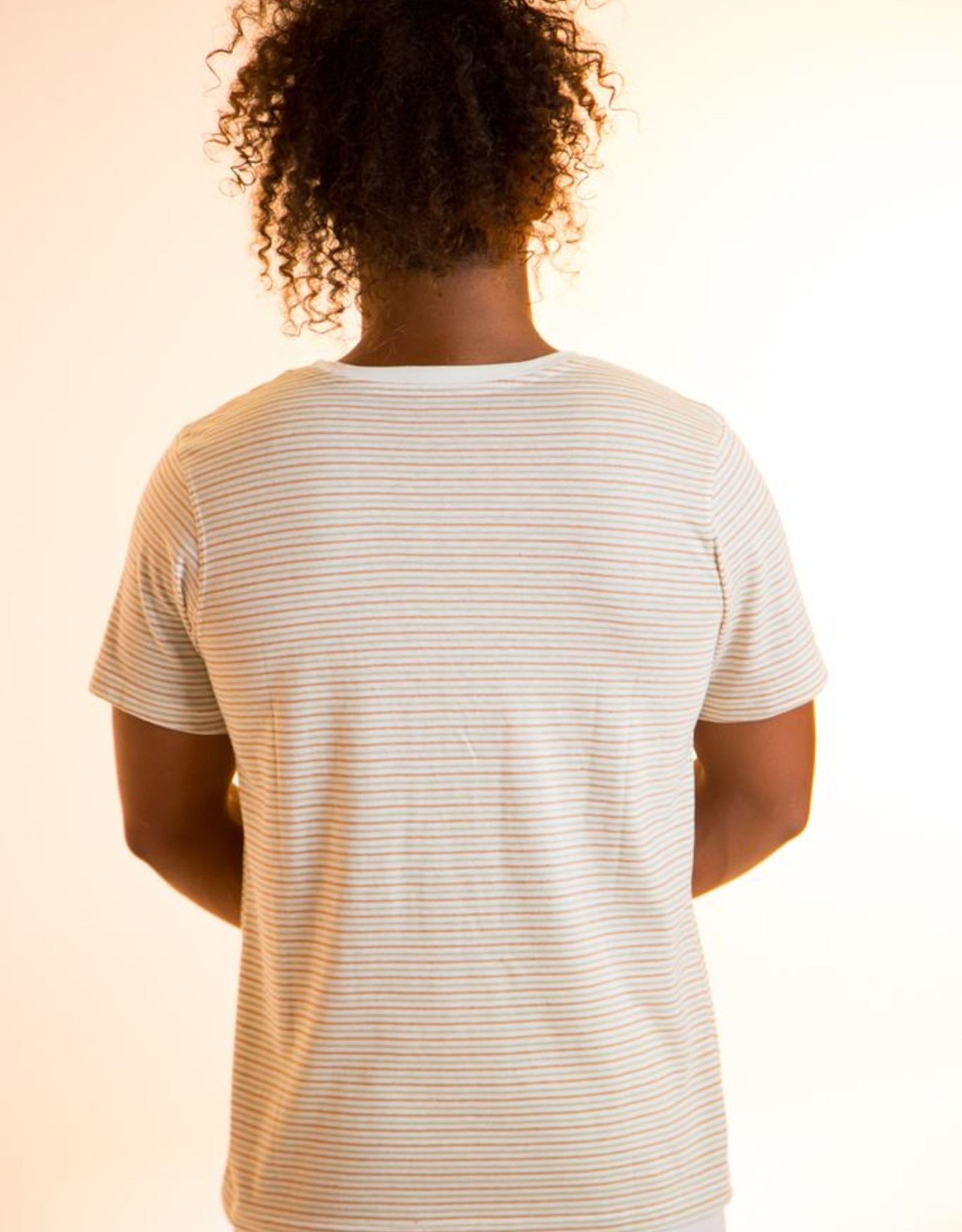Striped short sleeves shirt for man