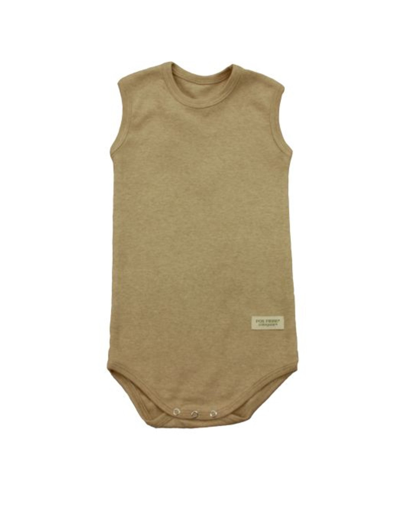 Open sleeveless babybody. Sizes 12 - 18 months