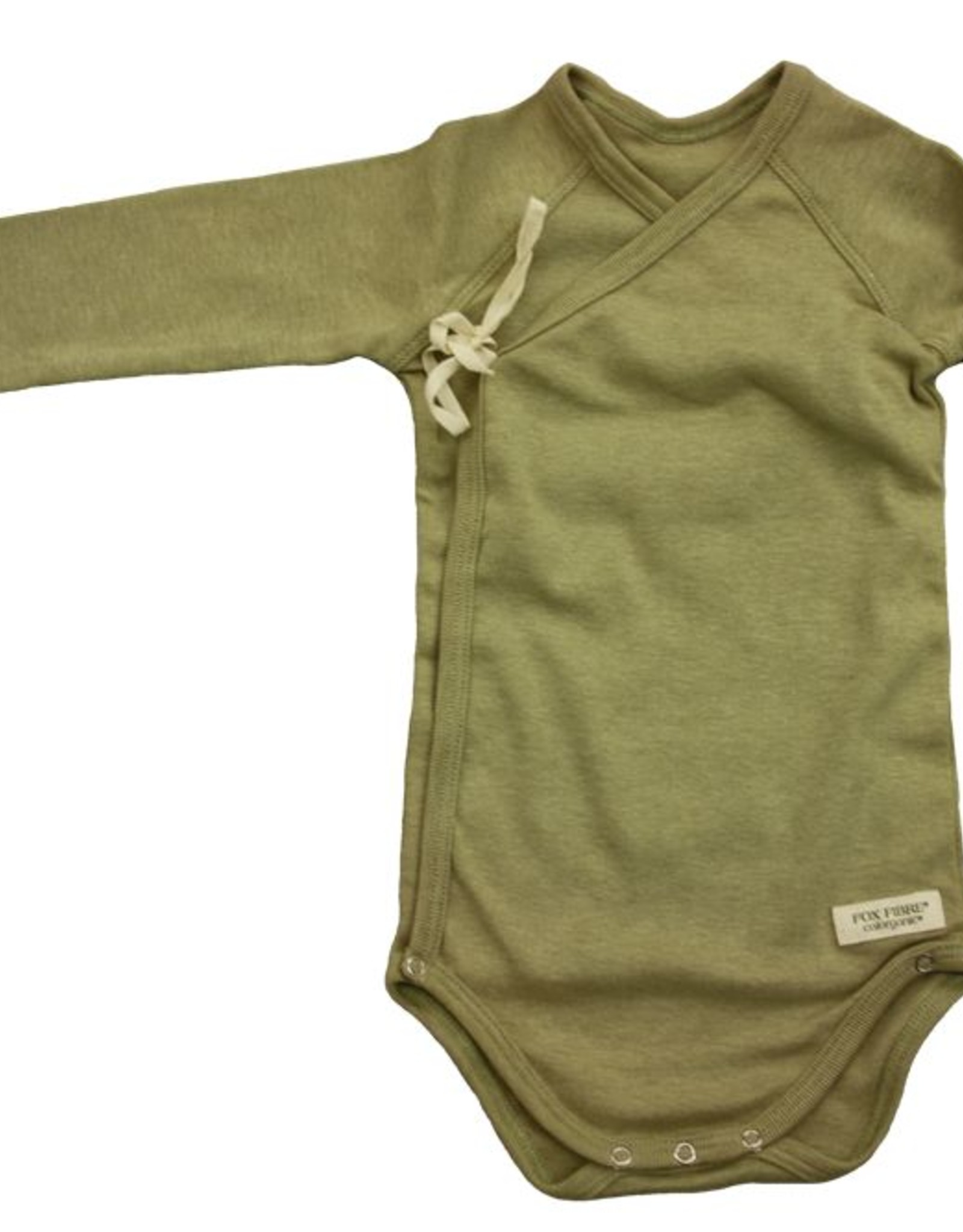 Cross baby body with long sleeve. sizes 1, 3, 6 months.