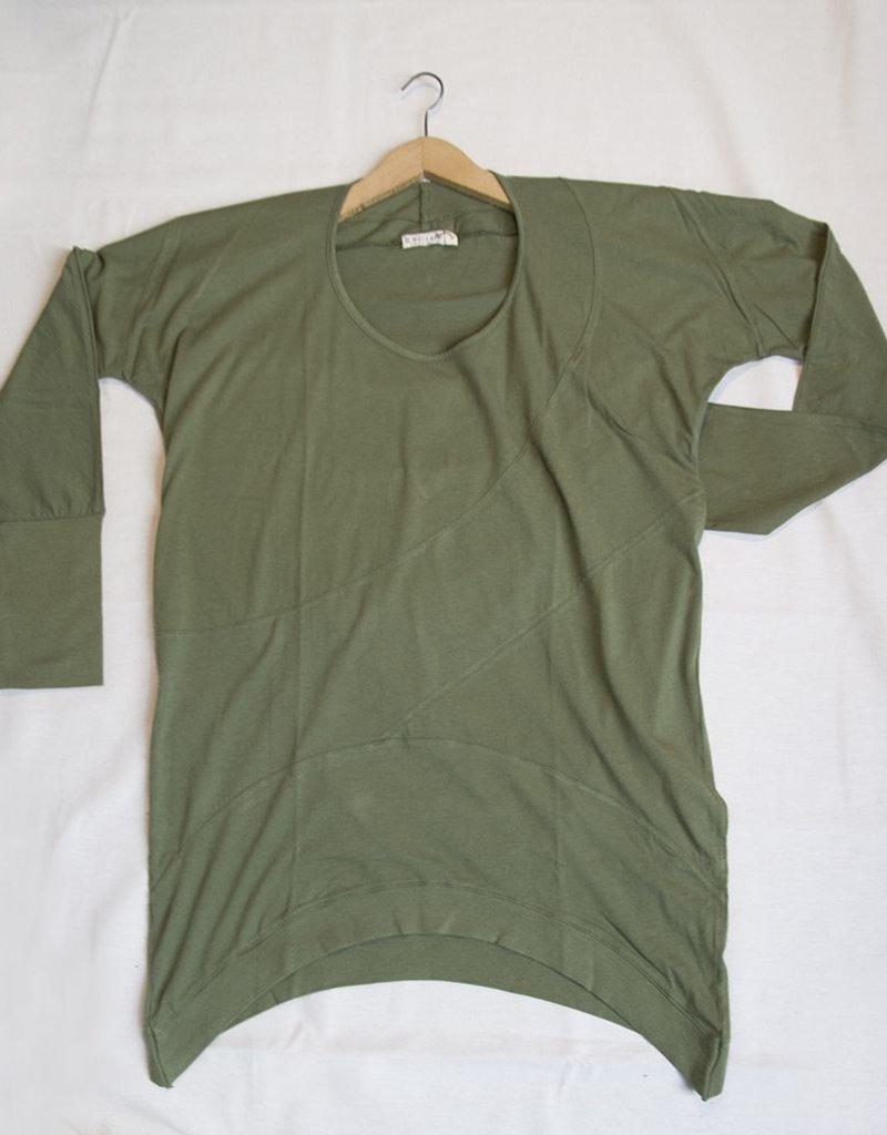 La Brisa Ibiza Camiseta manga larga asimétrica Jazmín