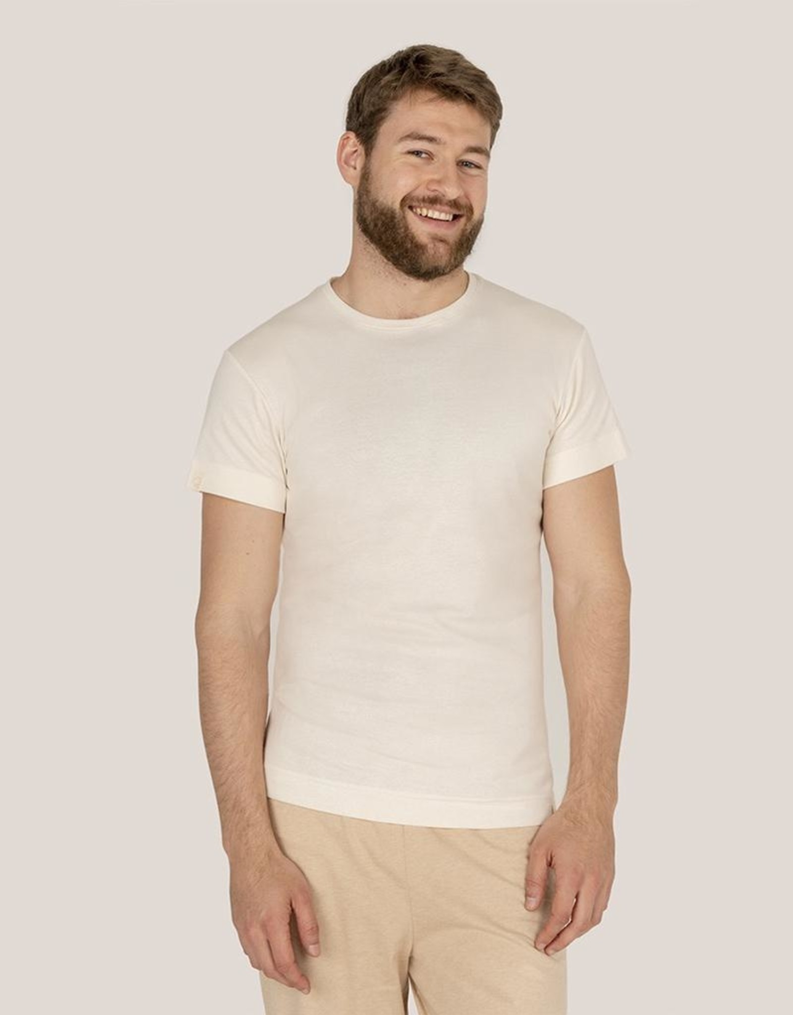Fitted t-shirt with short sleeves from Organic Cotton Colours
