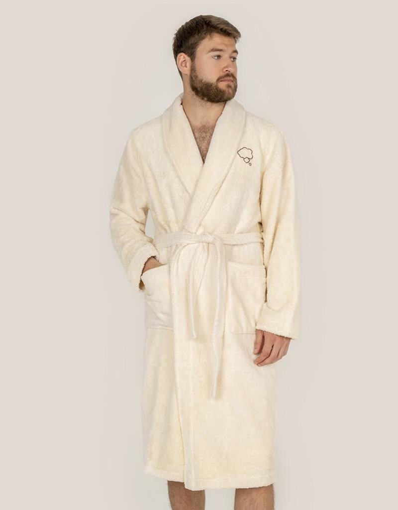 Adult bathrobe made with 550gr. towel fabric