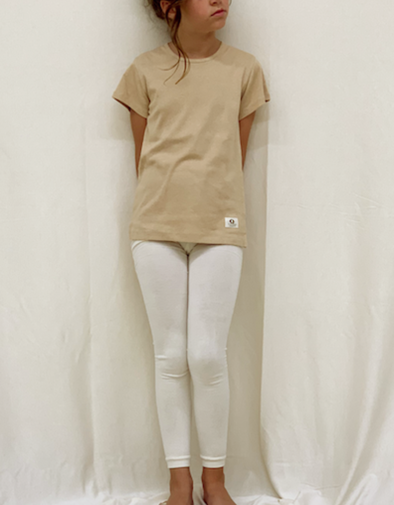 Junior shortsleveed shirt with round neck. sizes 2, 4, 6 years.