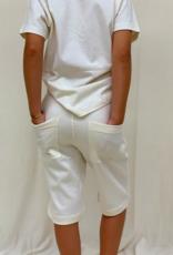 Bermuda junior con bolsillos. Tallas 2, 4, 6 años.