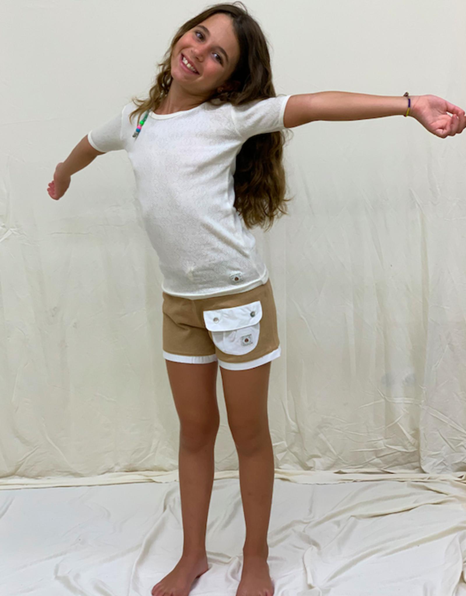 Short junior con bolsillos. Talla 2, 4, 6 años.