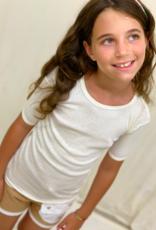 Camiseta junior calada manga corta. Tallas 8, 10, 12 años.