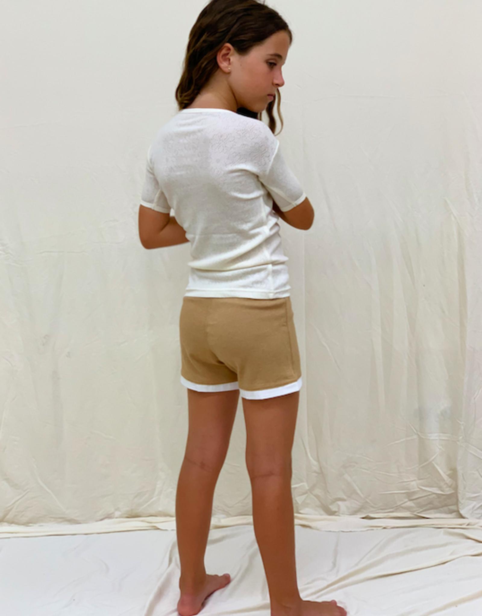 Shortsleeved openwok shirt for junior.. sizes 8, 10, 12 years.