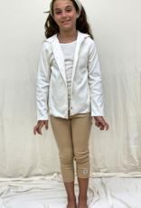 Chaqueta junior con capucha. Tallas 2, 4, 6 años.