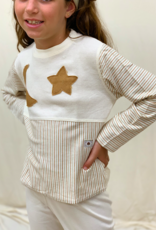 Pajamas short sleeve with moon and star design for junior. sizes 4, 6, 8 years.