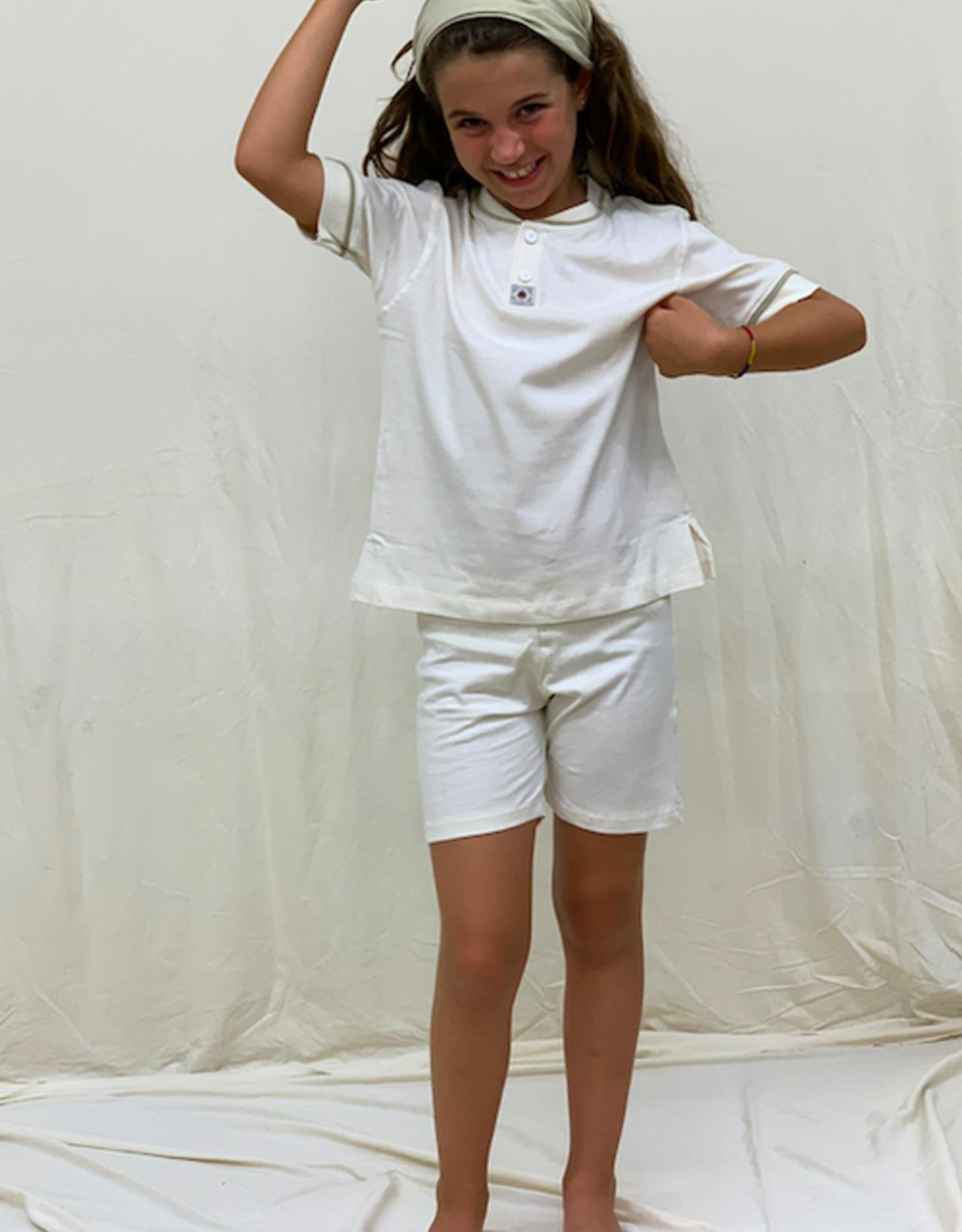 Pijama junior cerrado manga corta. Tallas 8, 10, 12 años.