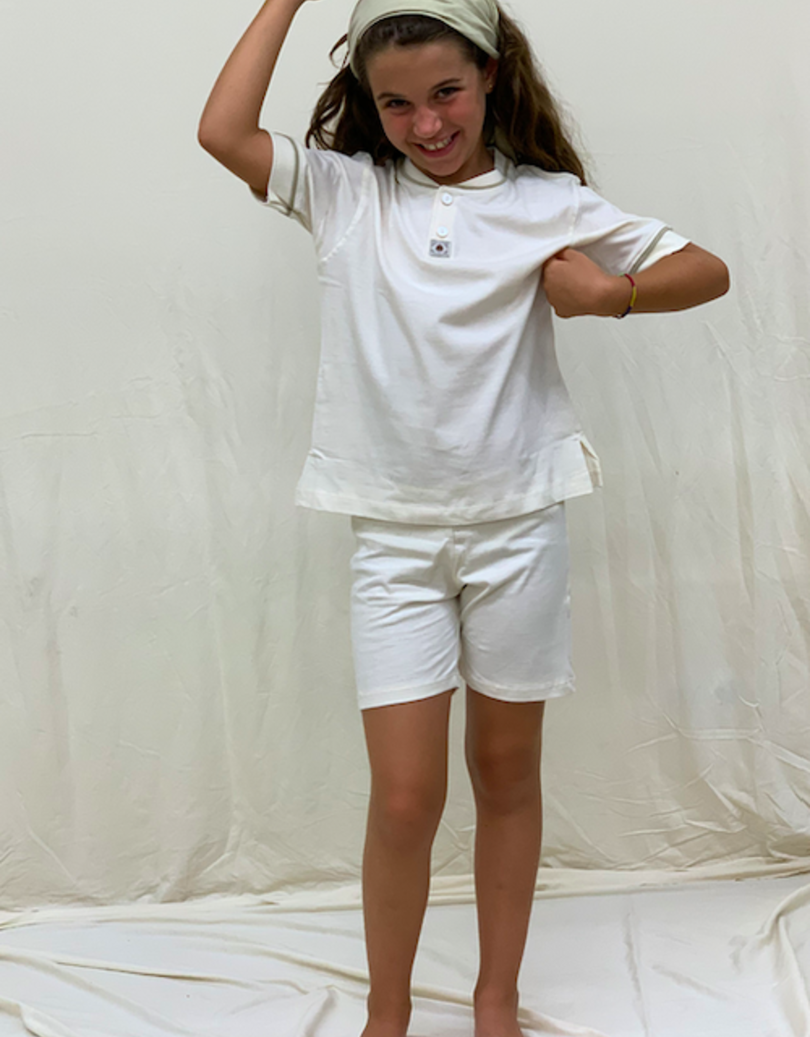 Short sleeve closed pajamas for junior. sizes 8, 10, 12 years.