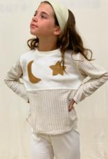 Pijama junior manga curta luna estrella. Tallas 12, 18, 24 meses.